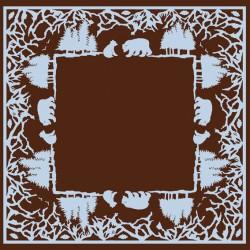 Serviettes en papier Ours chocolat