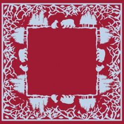 Serviettes en papier Ours rouge