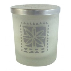 Screenprinted Glass Candle Edelweiss