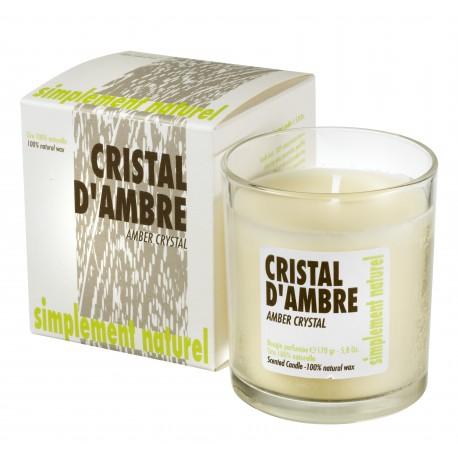 Bougie parfumée Cristal d'Ambre