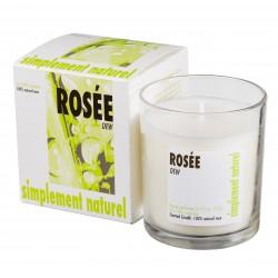 Bougie parfumée Rosée