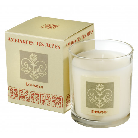 Screenprinted Glass Candle Edelweiss
