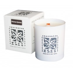 Candle Wooden Wick Spicy Resins