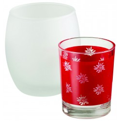 Tealights candle holders Edelweiss