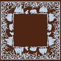 paper napkins Bears Chocolate