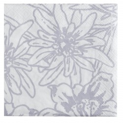 White Alps Flowers Paper Napkins